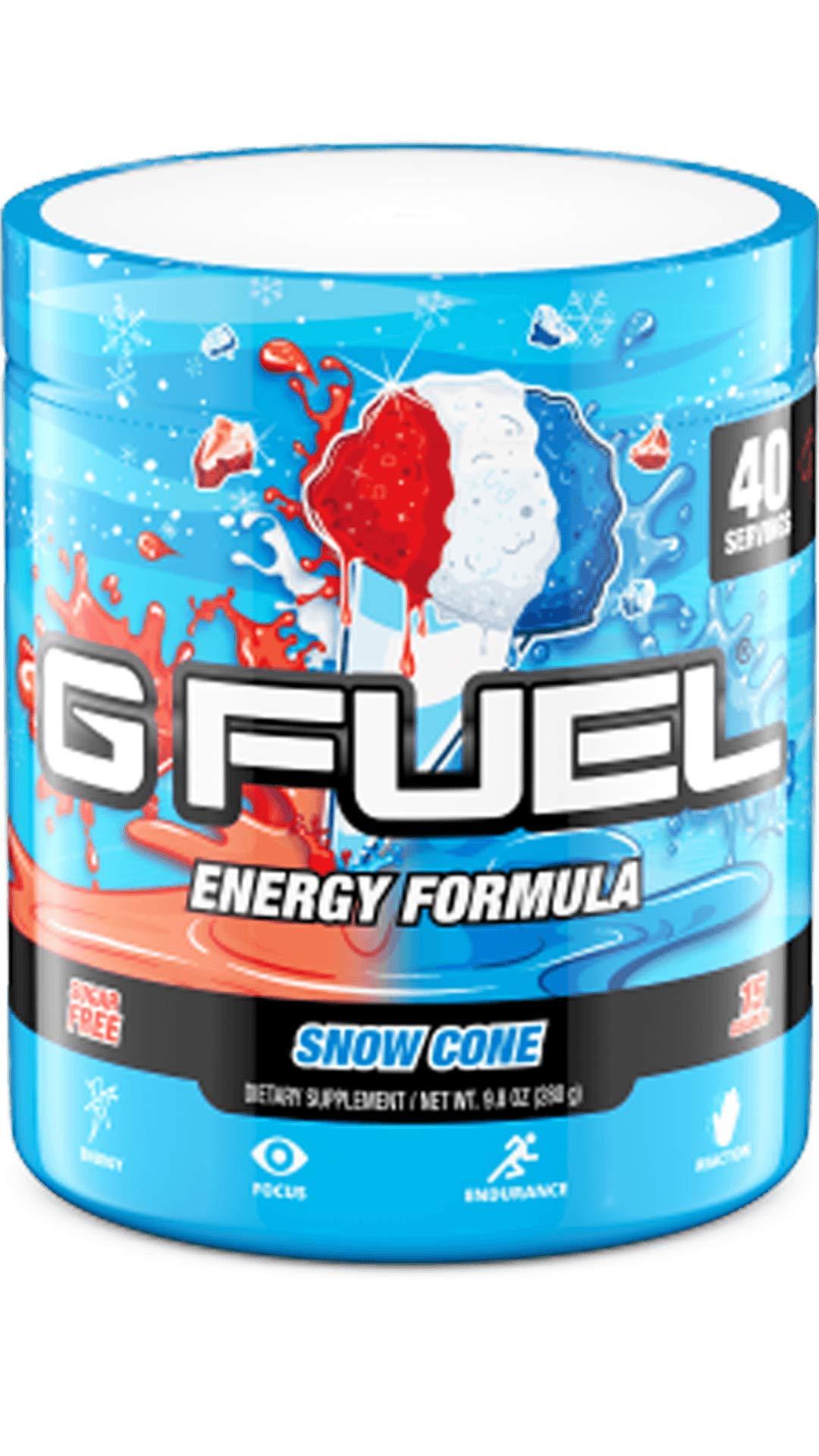 G Fuel Snow Cone (40 Servings) Elite Energy and Endurance Powder 9.8 oz.