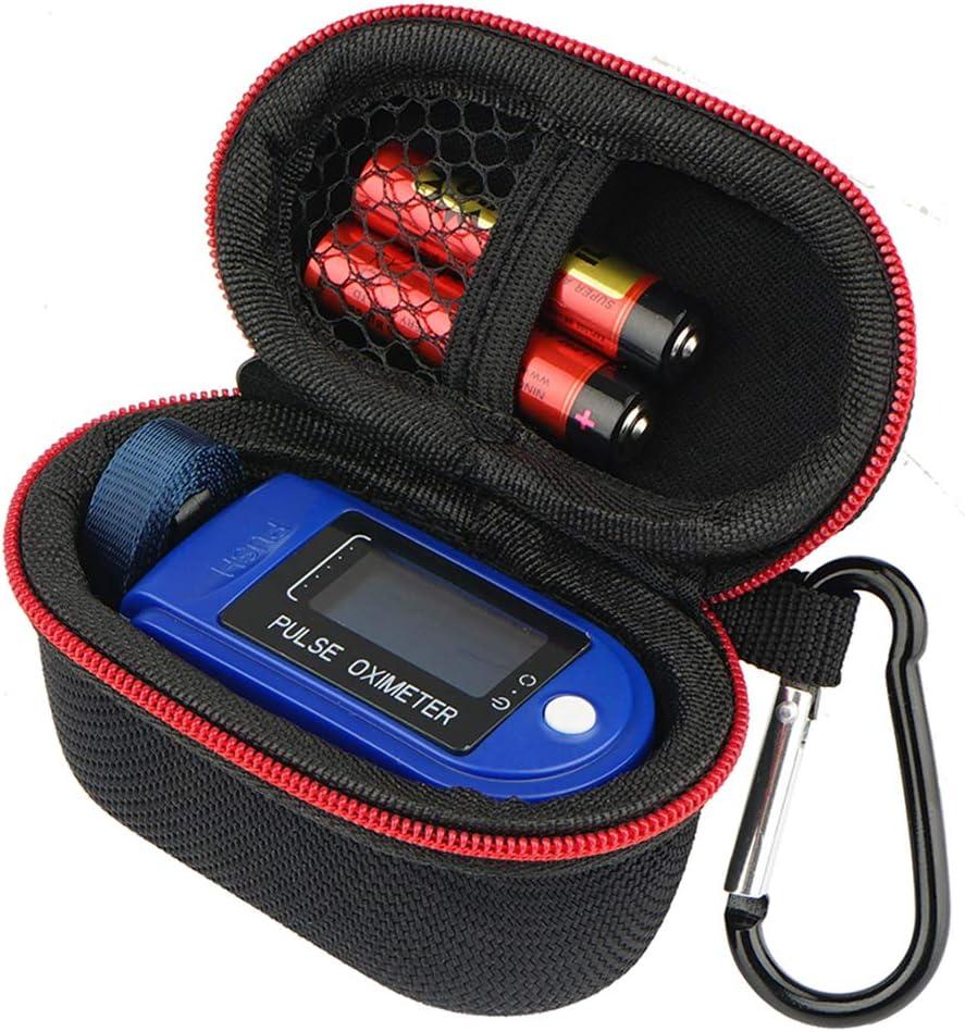 Brappo Hard Storage Case for Zacurate Pro Series 500DL/ BL/CMS 50-DL/Facelake/Innovo Deluxe/Facelake/Santamedical/Fingertip P.O Blood Oxygen Saturation Monitor