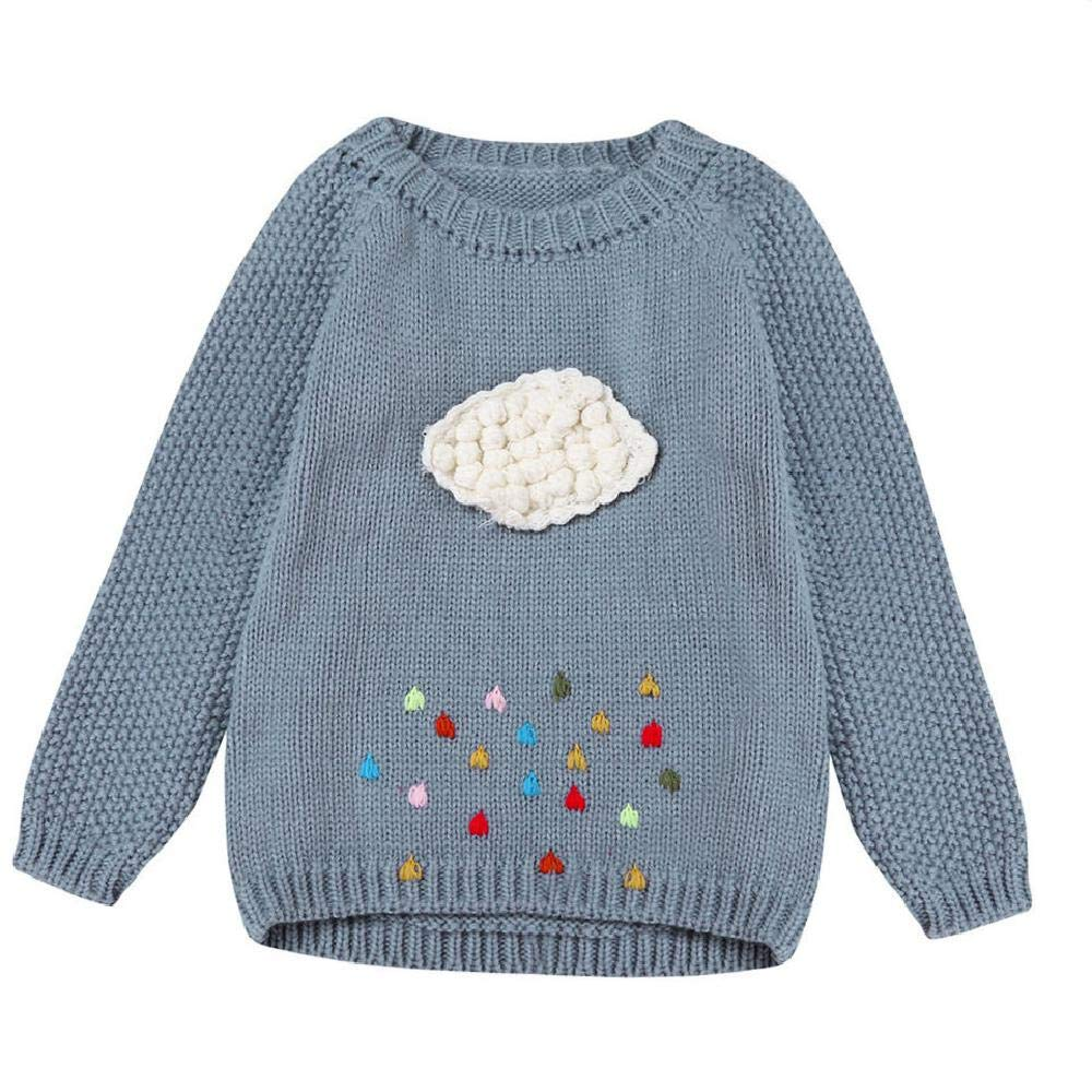 BCVHGD Warm Outerwear Baby Cute Knitted Cardigans Toddler Girl Sweaters Kids Pullovers Autumn Winter Sweater