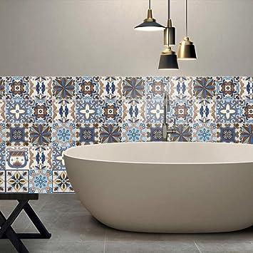 Popular 25Pcs Self Adhesive Tile Art Wall Decal Sticker Kitchen Bathroom Decor