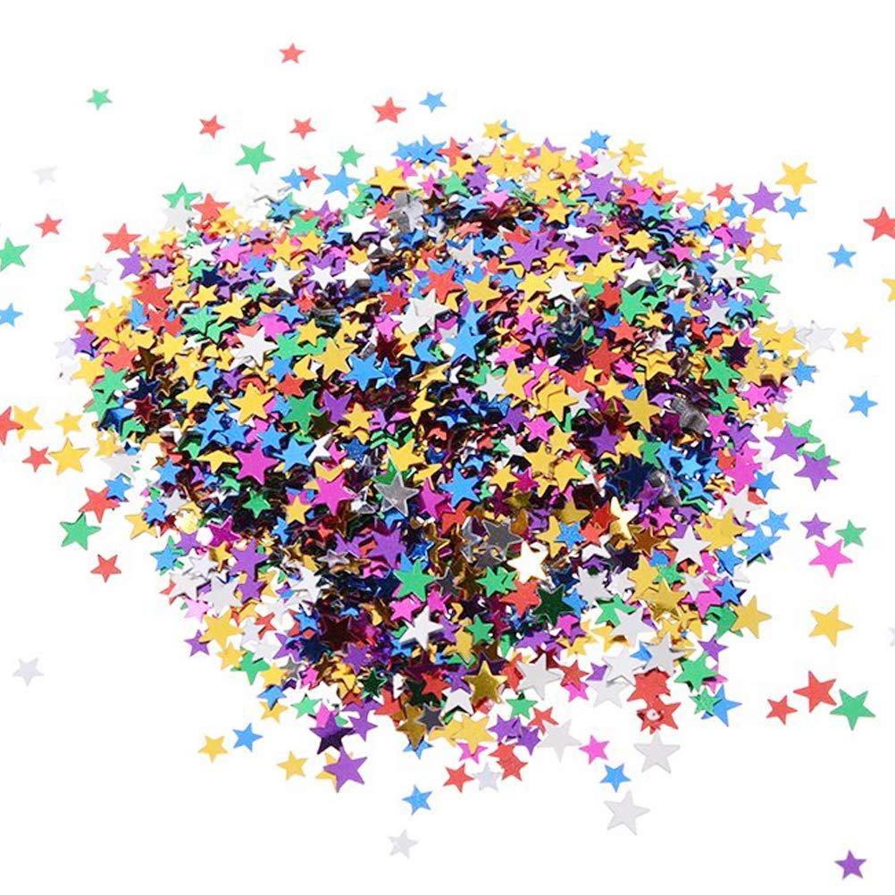12 Pack Colorful Manicure Stars Shape Glitter Confetti, Simuer Slime Supplies Glitter Sequins Paillette Glitter Pack Shake Jars DIY Art Craft for Slime,Nail Art Polish,Scrapbooking,Party Decoration