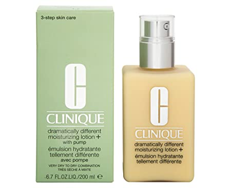 Clinique Dramatically Different Moisturizing Lotion – Very Dry To Dry Combination Skin Moisturizer For Unisex 6.7 oz