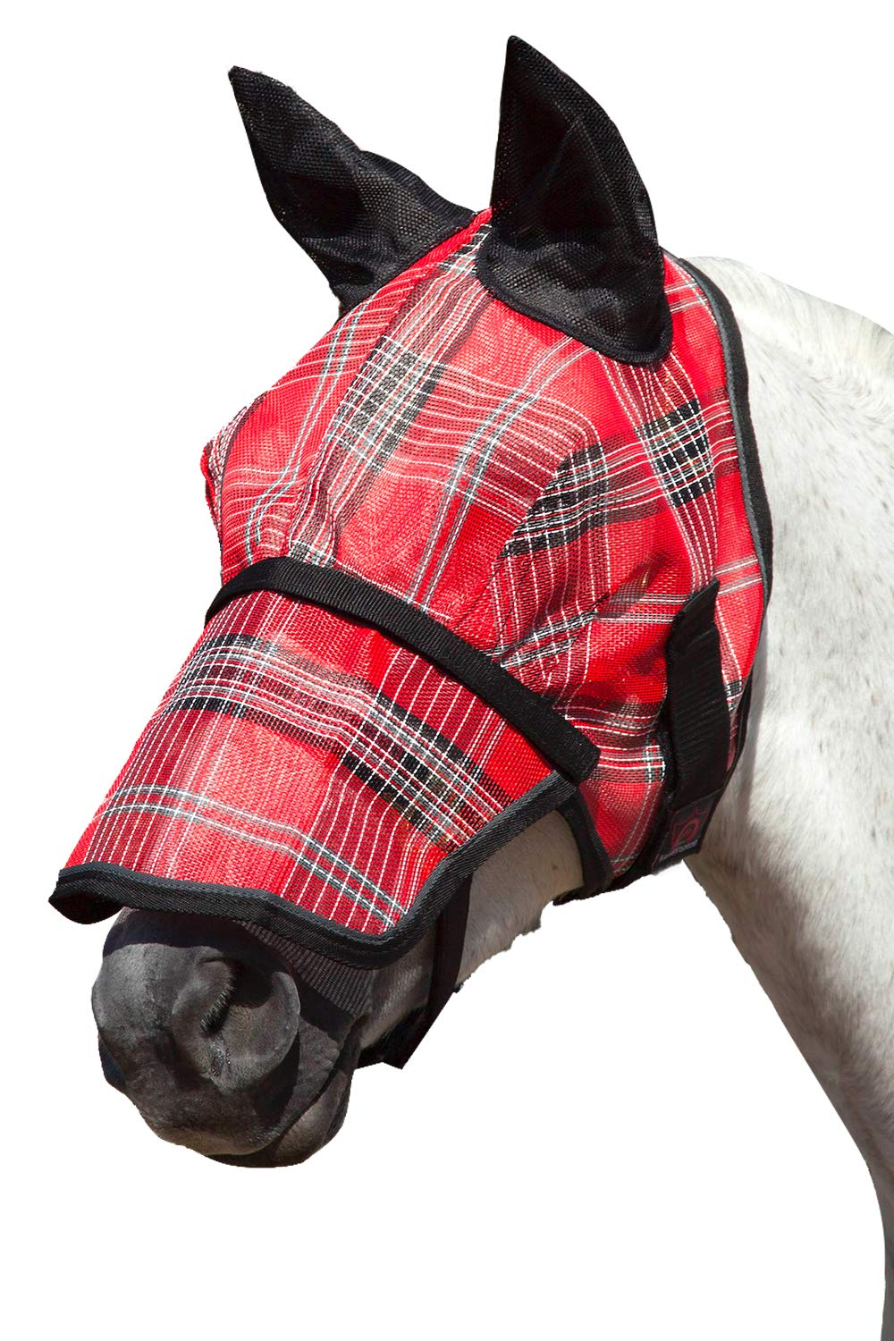 Kensington Signature Fly Mask with Removable Nose and Soft Mesh Ears - Protects Horses Face, Nose and Ears from Biting Insects and UV Rays While Allowing Full Visibility by Kensington