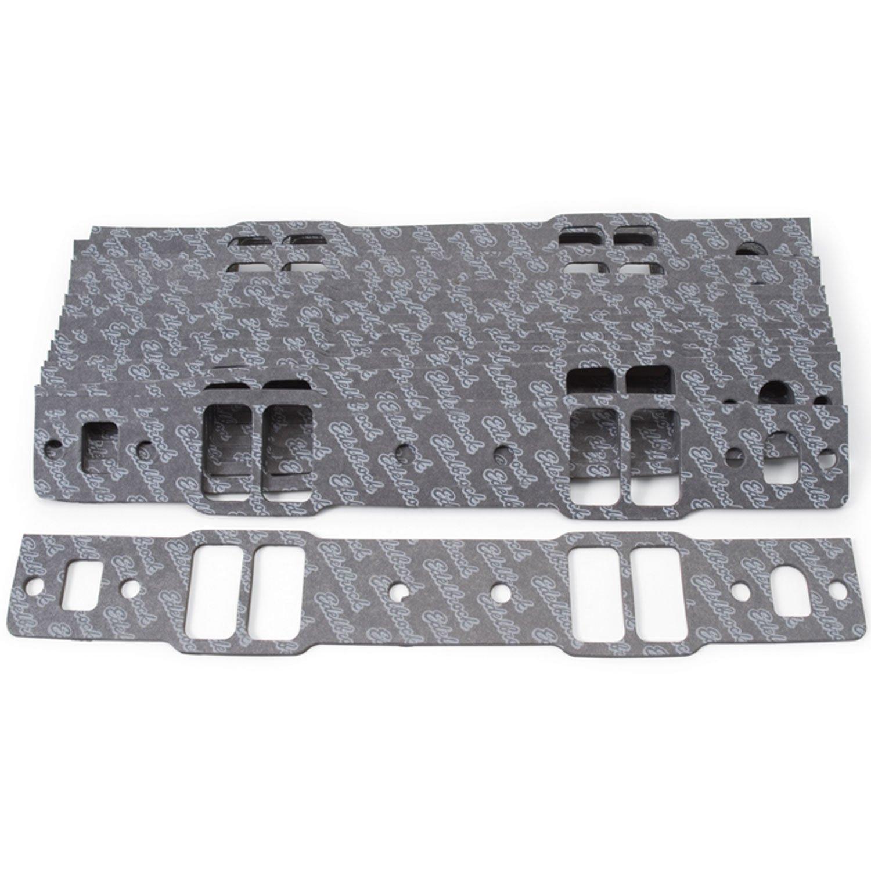 Edelbrock 72078 Intake Manifold Gasket Set For Chevy Small Block Intake Manifold PN[2814] For GM Cast Iron Bowtie V 0.120 in. Thick 10 Pack Intake Manifold Gasket Set by Edelbrock (Image #1)
