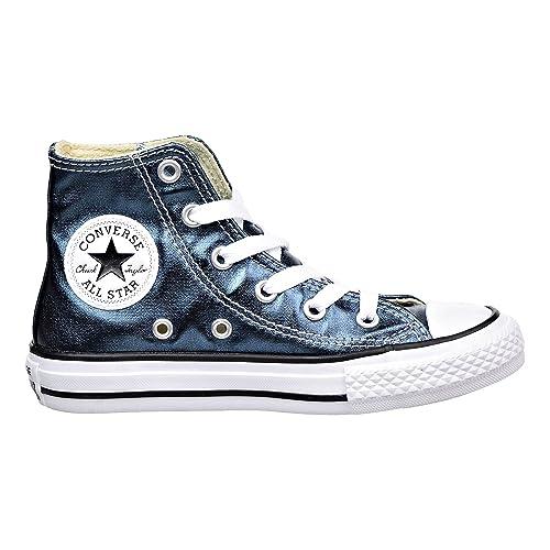 ace1f1fb7158 Converse CT All Star High Little Kids Shoes Blue Fir White Black 357629f (
