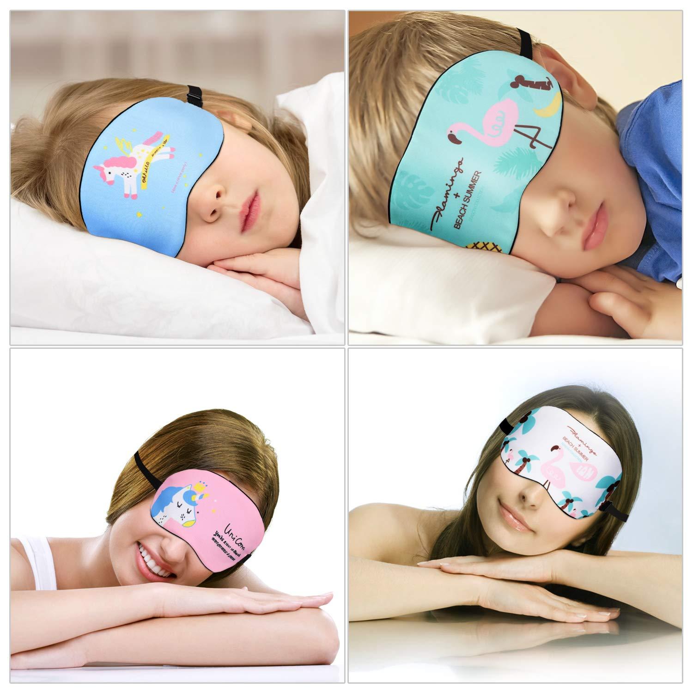 6 Stk Einhorn Augenmaske f/ür Einhorn/übernachtungsparty Mwoot Schlafmaske M/ädchen Damen