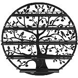 Tree Silhouette Round Metal Wall Mounted 5 Tier Salon Nail Polish Rack Holder / Wall Art Display