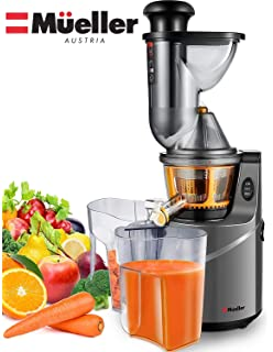 Homevolts Slow Juicer Red Compact Masticating Juicer with