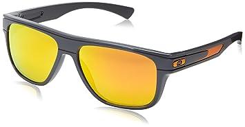 Oakley Herren Breadbox OO9199 Rechteckig Sonnenbrille, Toxic Blast Dark Grey/Fire Iridium Polarized (S3)