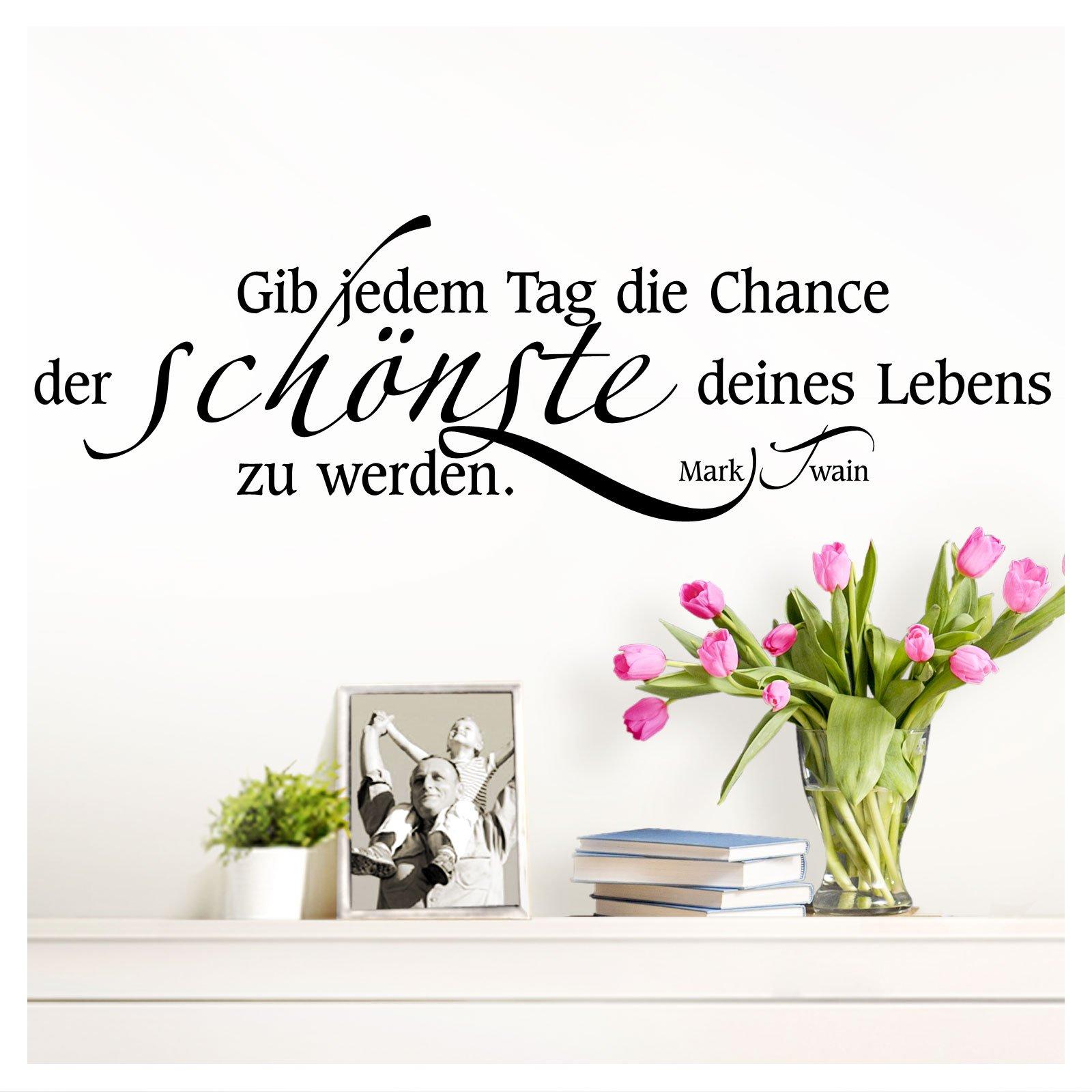 Genial Wandtattoo Zitate Galerie Von Wandaro W3304 Zitat Gib Jedem Tag Die