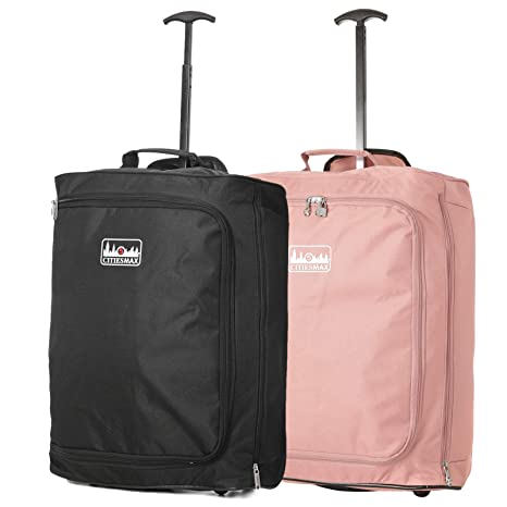 Set of 2 55x40x20cm Ryanair Maximum Cabin Hand Luggage Approved Trolley Bag a7c3b777bba7e