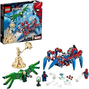 Oferta amazon: LEGO Super Heroes Reptadora de Spider-Man, juguete de construcción para recrear las aventuras del Superhéroe, incluye un vehículo con forma de Araña y varios villanos (76114) , color/modelo surtido