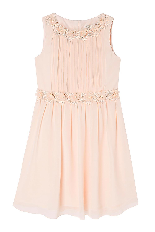 Lipsy Girl Layla Pearl Prom Dress - Beige - Age 12: Amazon.co.uk: Clothing