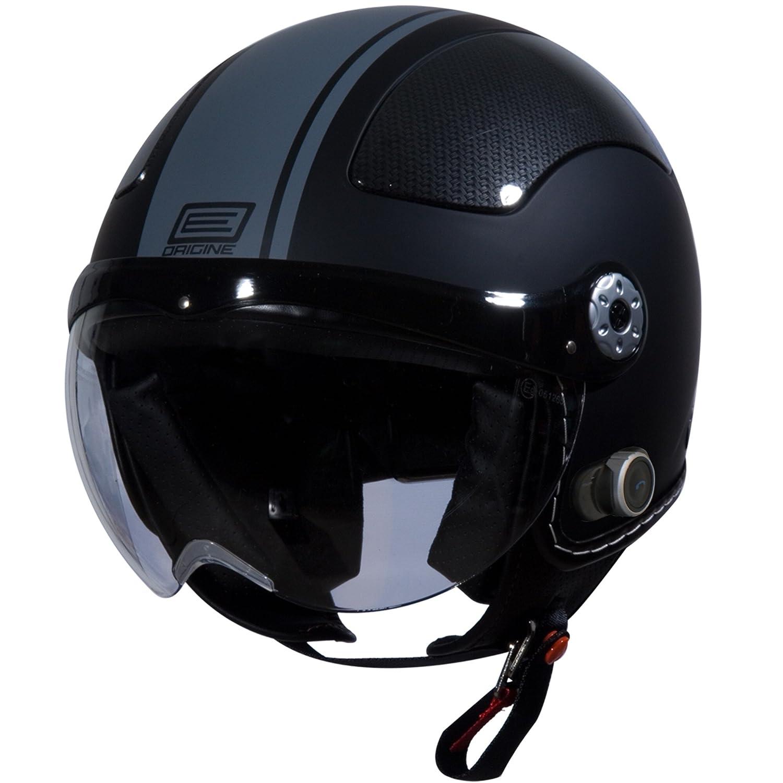 Amazon.com: Origine O528B Pilota 3/4 Helmet with Blinc Bluetooth (Flat Black, Small): Automotive