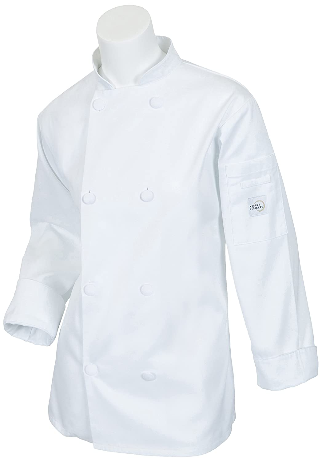 Mercer Culinary Millennia Women's Cook Jacket, X-Large, White M60022WH1X