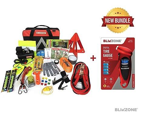 blikzone incluye: 1 Auto asistencia en carretera de emergencia Essentials Kit de coche (81 PC) con ...