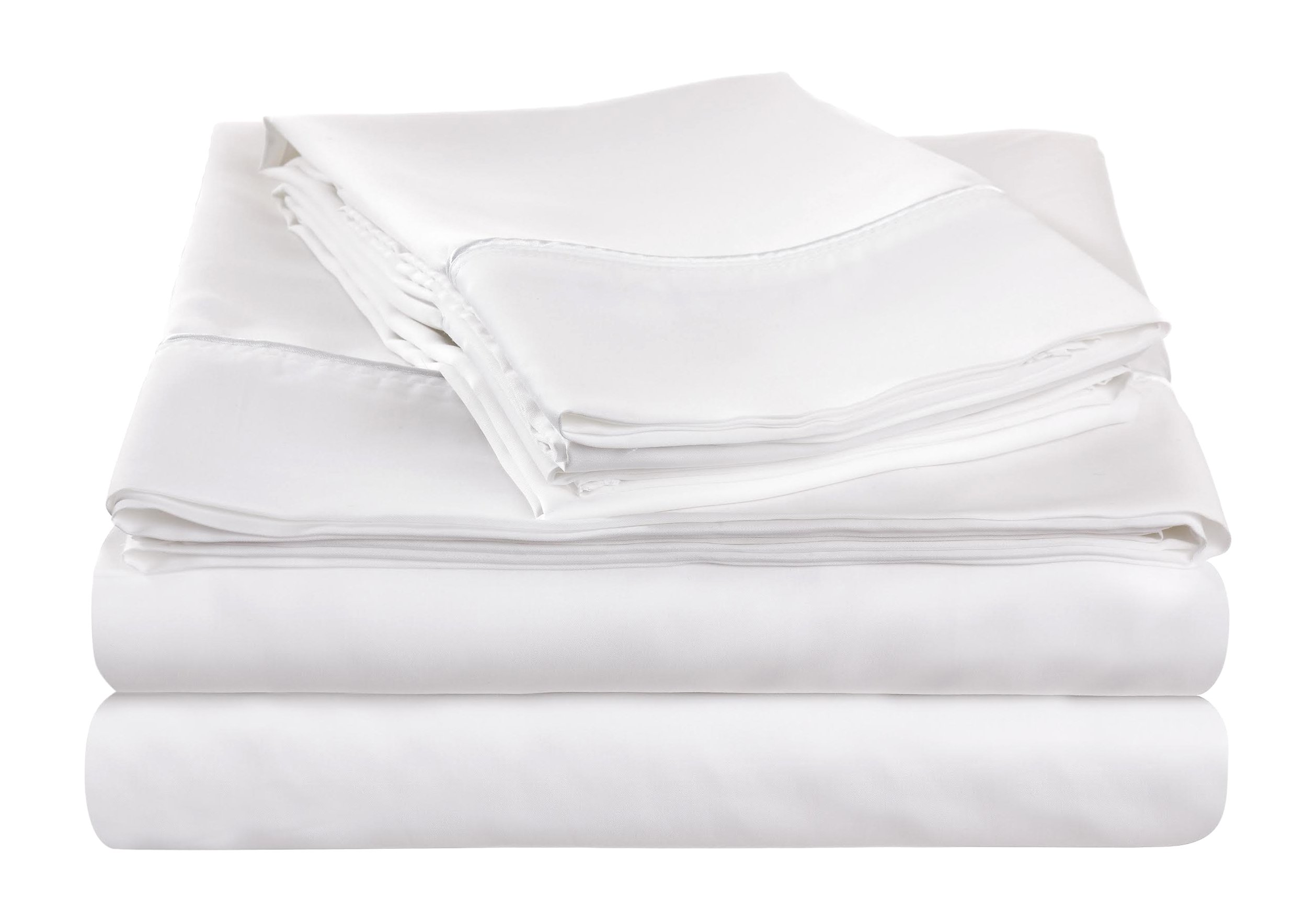NuSleep Bedding Performance California Sheet Set with 37.5 Technology, King, White
