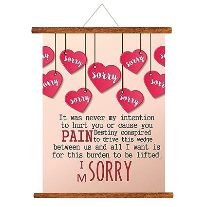Yaya Cafe Sorry Scroll Greeting Card Beige 15X20 Inches