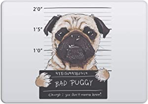 Laptop Stickers MacBook Decal - Removable Waterproof Vinyl - Bad Villain Pug Dog Decal Skin for Apple MacBook Air Pro 13 15 inch Mac Retina - Decorative Sticker by Artsybb