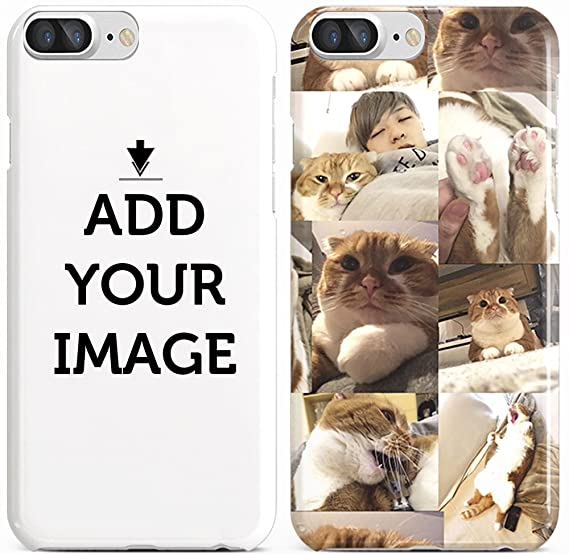 new style 0bc57 1adc3 Make Your OWN iPhone 8 Plus / 7 Plus CASE - Customized Cover Add Photo  Print Text Logo Picture