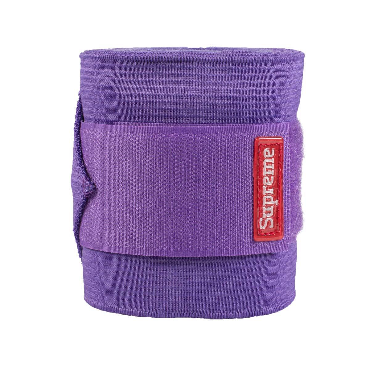 HORZE Fleece Elastic Combo Xtra Support Polo Wraps - Purple by HORZE