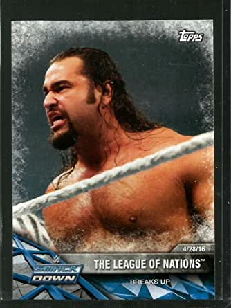 Amazon Com 2017 Wwe Road To Wrestlemania 79 The League Of Nations Nm Mt Collectibles Fine Art