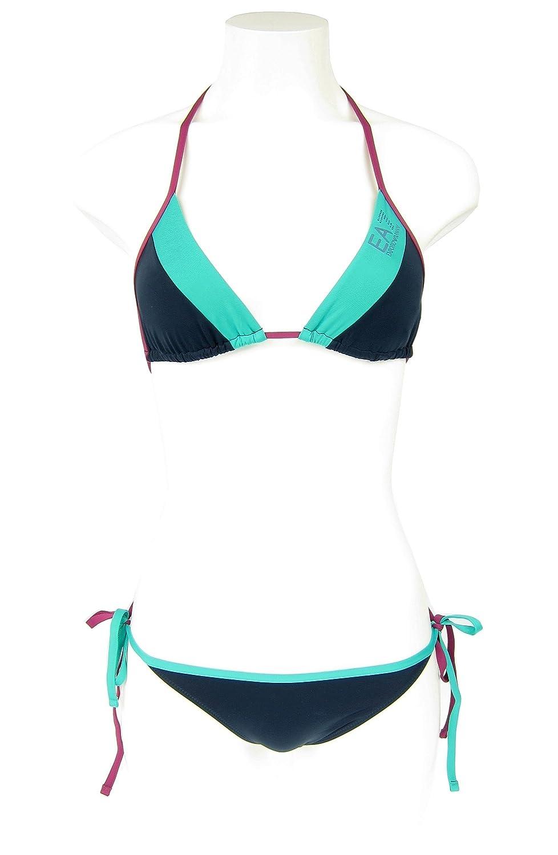 Emporio Armani EA7 5A701 Damen Women Bikini Set Triangle Beachwear gut eingezäunt