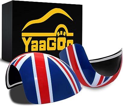 GOZAR Union Jack Wing Spiegel Abdeckungen Power//Hand Falten Spiegel F/ür Mini Cooper R55 R56 R57 R60 Hand Falten Spiegel
