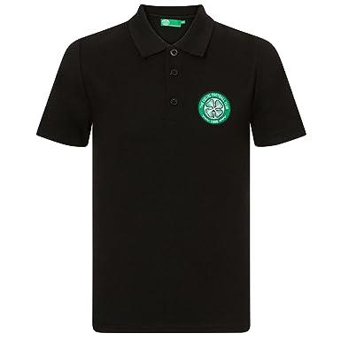 Celtic FC officiel - Polo de football pour homme - avec blason officiel - Gris - XL IkdanZJ