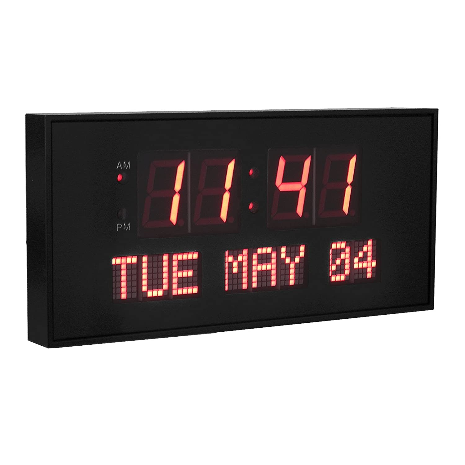 Amazon dynamic living oversized 16 inch x 75 inch digital amazon dynamic living oversized 16 inch x 75 inch digital led calendar wall clock home audio theater amipublicfo Images