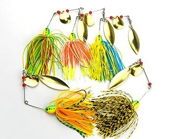WDDDYYE Pesca Señuelo/40 Unids 16.3G Spinner Cebo Zumbido ...