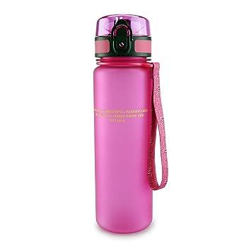 SMARDY Tritan Botella de Agua para Beber Pink - 1000ml - de plástico sin BPA -