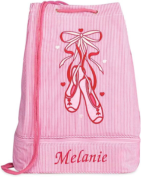 Drawstring Bag Boys School Gym Bag Girls Sports Bag Kids Swim Bags tigerlilyprints Ballet Star Dance Bag Kids Backpacks