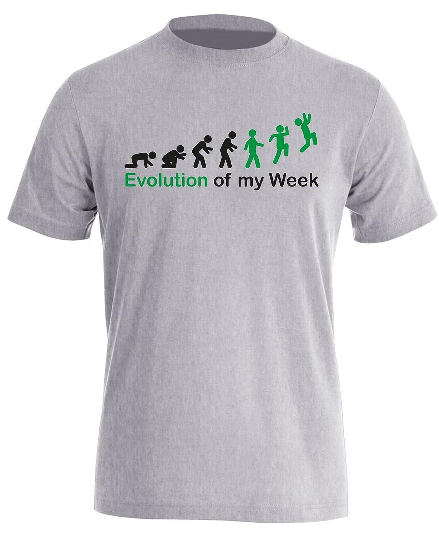 Evolution of my Week - Evolution meiner Woche - Herren Rundhals T-Shirt:  Amazon.de: Bekleidung
