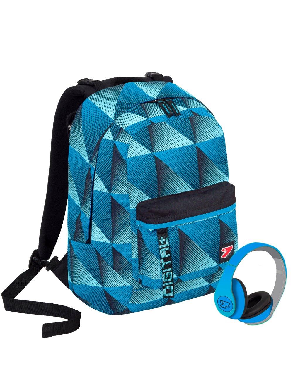 9854e980a1 Zaino SEVEN THE DOUBLE DOUBLE DOUBLE - DIGITAL - Blu - cuffie stereo  WIRELESS con microfono incluse 2 zaini in 1 REVERSIBILE 92562b