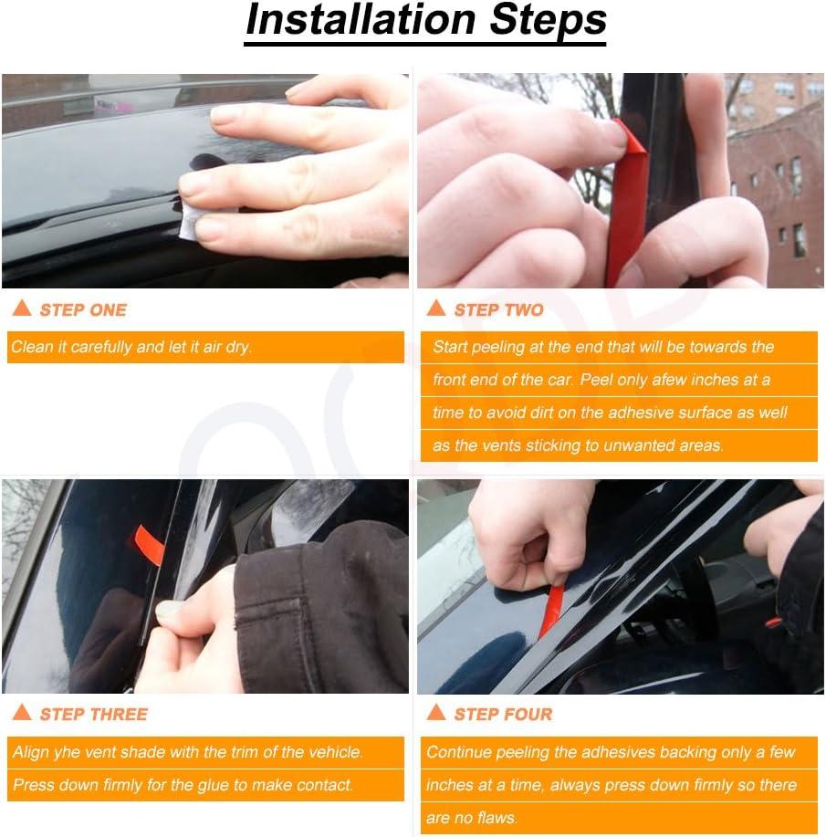 LQQDP 2pcs Front Doors JDM Smoke Sun//Rain Guard Outside Mount Tape-On Vent Shade Window Visors Fit 06-11 Honda Civic 2-Door Coupe