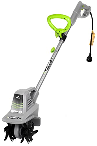 Earthwise TC70025 7.5-Inch 2.5-Amp Corded Electric Tiller Cultivator, Grey