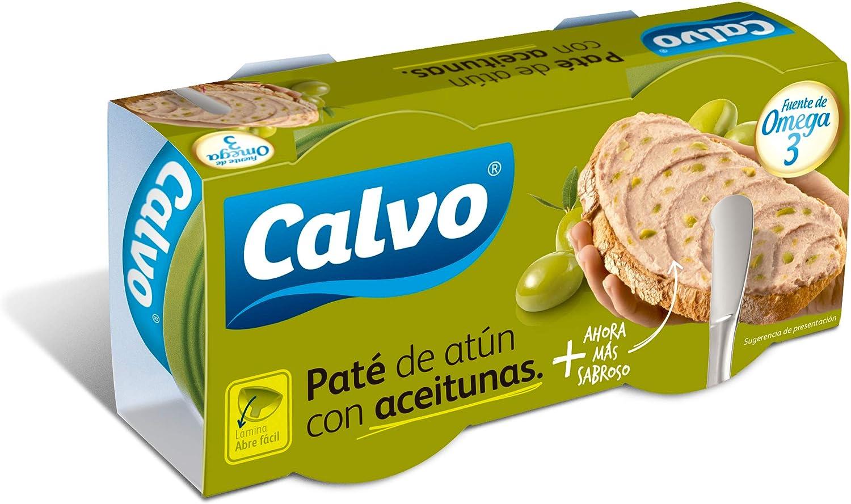 Calvo - Paté de atún con aceitunas, 2 x 75 g: Amazon.es ...