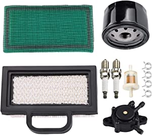 Kuupo 698754 273638 Air Filter 696854 492932S 492932 795890 Oil Filter 808656 Fuel Pump Intek Extended Life Series V-Twin 18-26 HP Lawn Mower Tune Up Kit