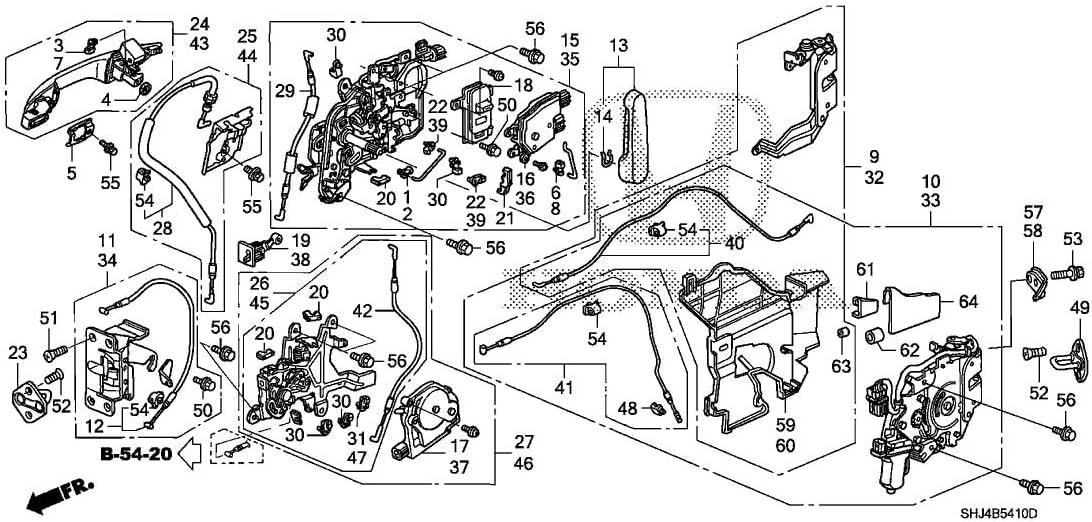 Amazon Com Genuine Honda 72610 Shj A01 Right Slide Door Manual Latch Assembly Automotive