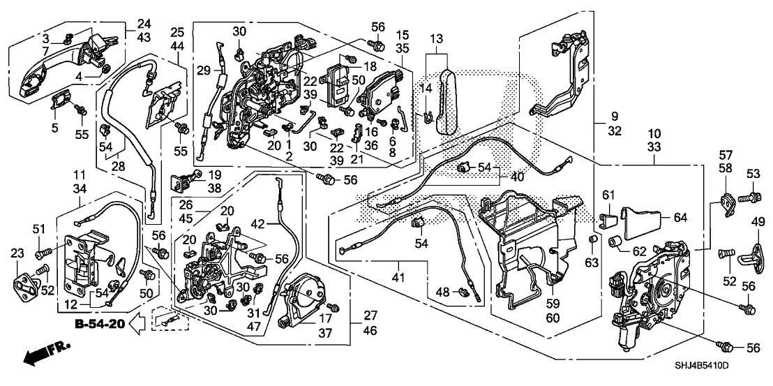 Genuine Honda 72610-SHJ-A22 Right Slide Door (Power) Latch Assembly by Honda