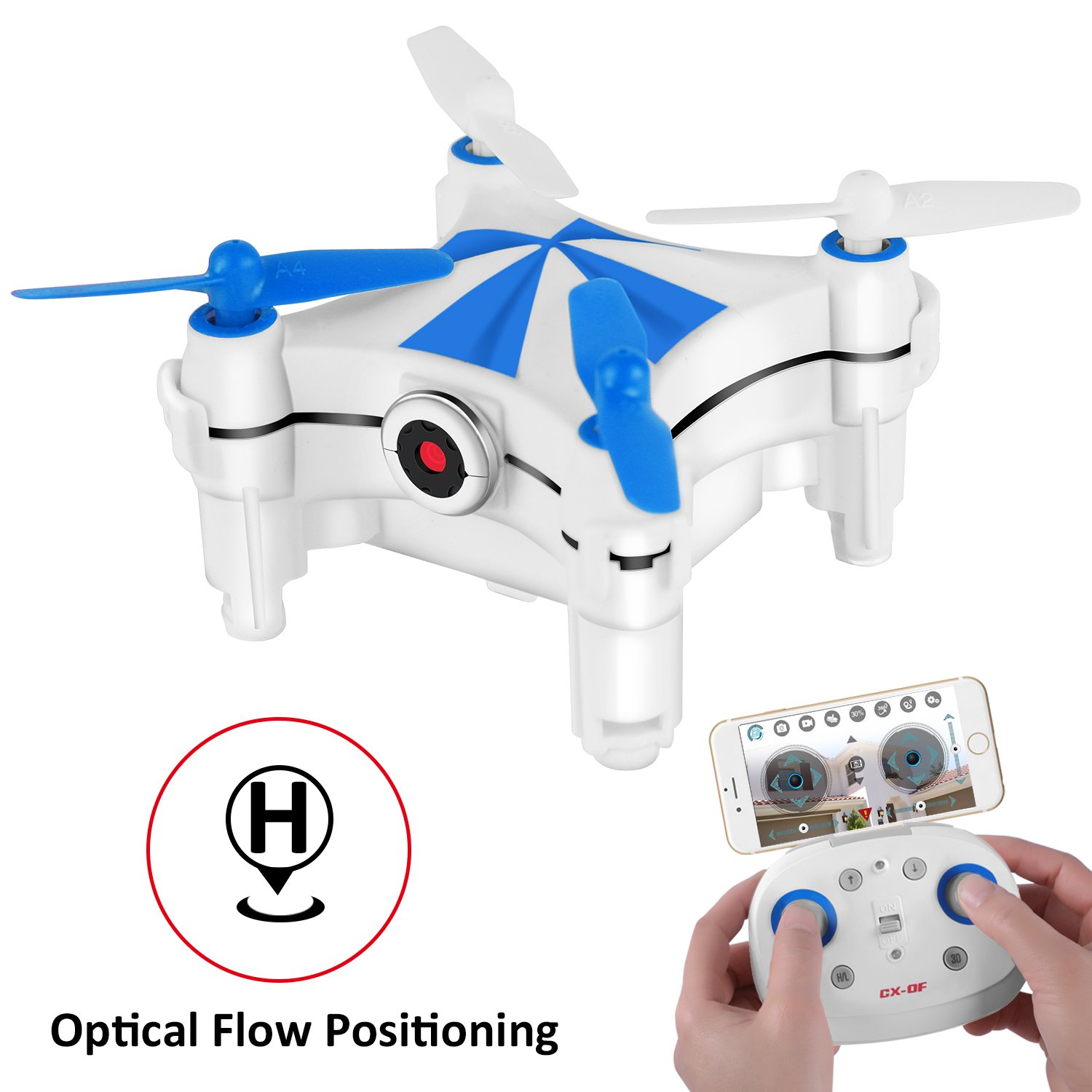 Optical Flow Positioning, Mini RC Drones for Kids & Beginners,...
