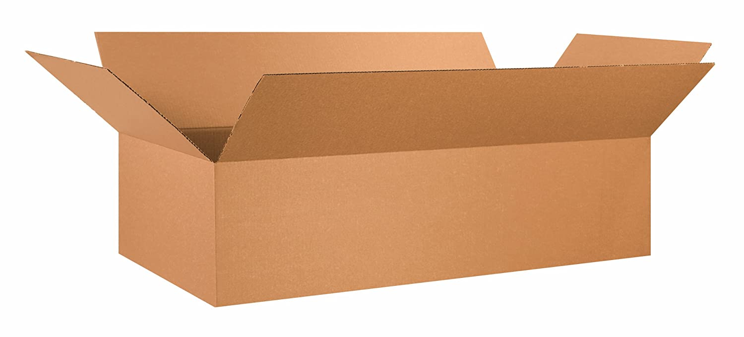 Image of Aviditi 482412 Long Corrugated Box, 48' Length x 24' Width x 12' Height, Kraft (Bundle of 10) Home and Kitchen