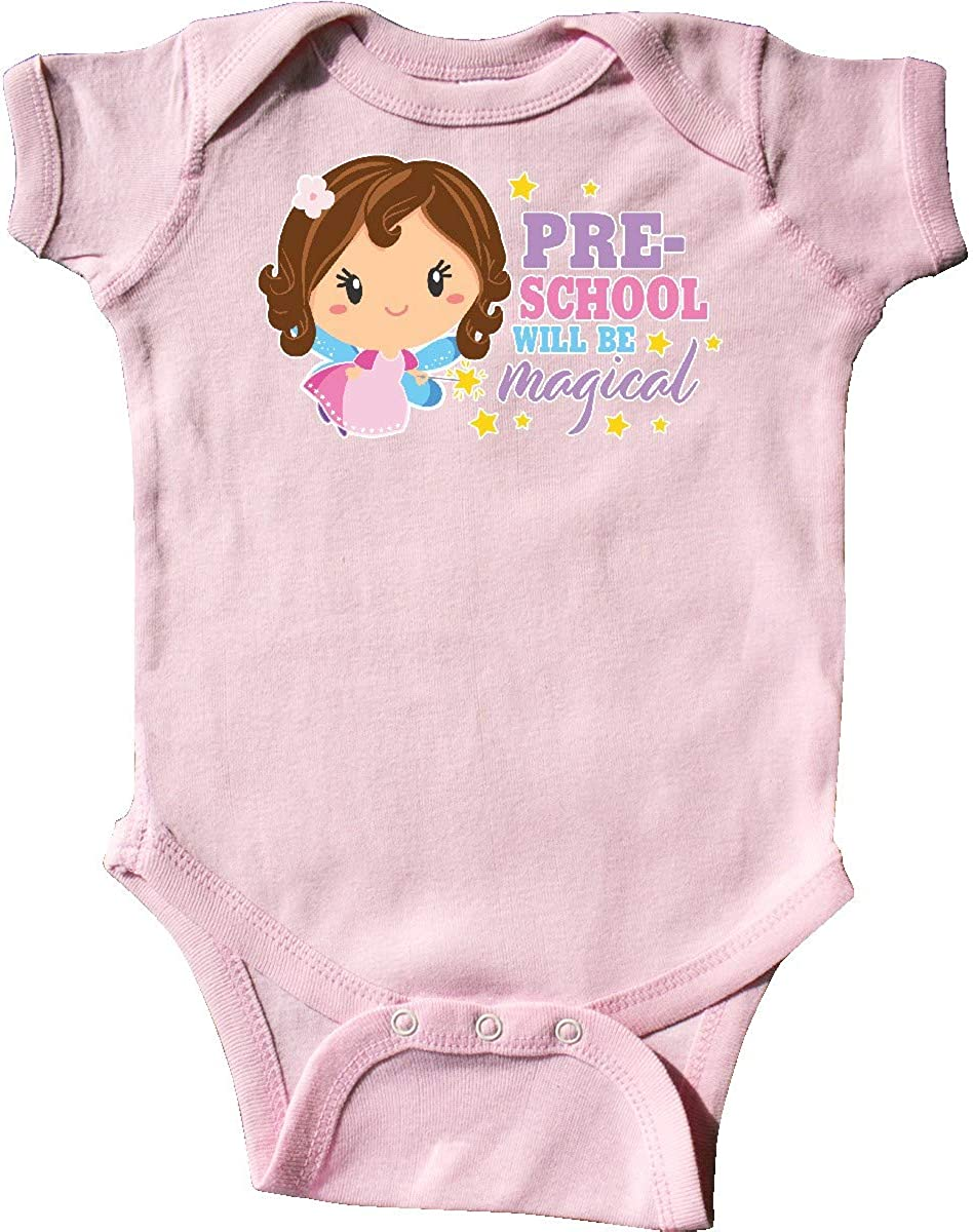 inktastic Preschool Will Be Magical with Brown Haired Fairy Infant Creeper