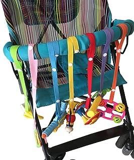 Butterme Baby Toddler Toys Harness Cinturino Sippy Cup Holder Strap Soothie Ciuccio Clip Giocattoli Guinzaglio per passeggino Seggioloni Seggiolini auto - Lunghezza regolabile-7-Packs