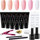 Polygel Nail Kit Poly Gel Nail Extension Gel Nail Enhancement for Professional Technician and Beginner Nail Salon All-in-One Gift Set