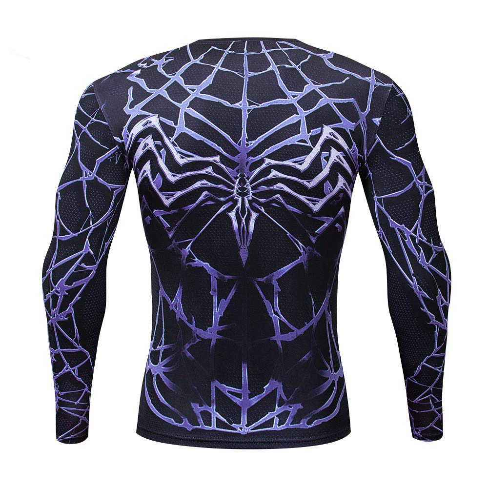 Quick Cool Dry Fit Tights Superhero Long Sleeve Athlete Baselayer Blue Laser