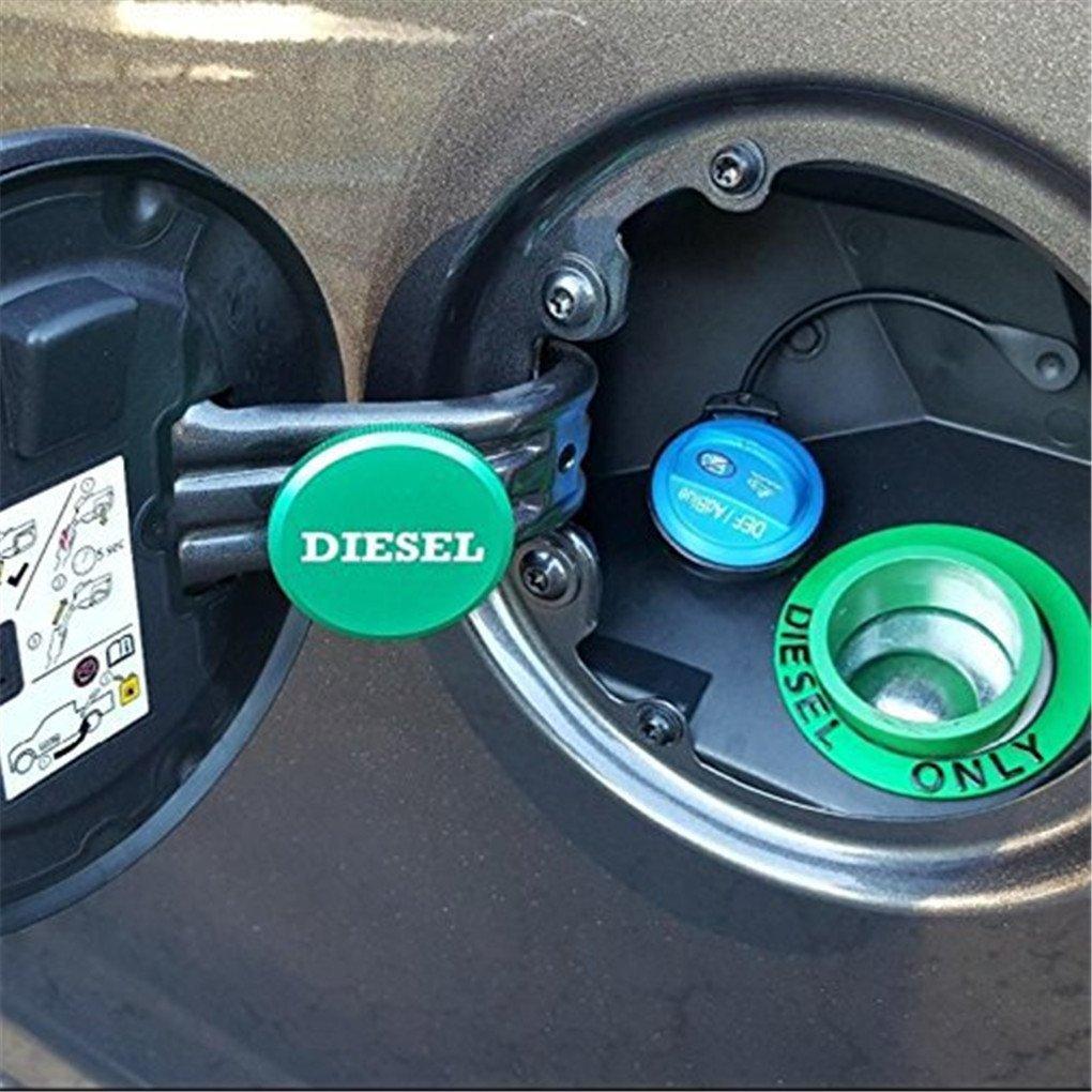 WYYINLI Aluminum Billet Diesel Gas Tank Magnetic Cover Fuel Gas Cap /& Def Cap Combo fit Dodge Ram