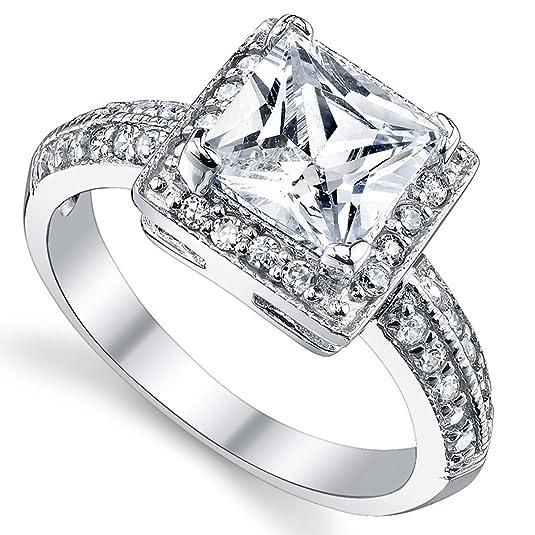 Wedding Ring Holders Ceremony 35 Nice Amazon Carat Princess Cut