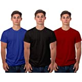 Boodbuck Plain Pure Cotton T-Shirt Pack of 3